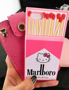 Hello Kitty Marlboro cigarette phone case