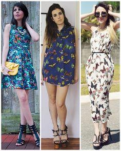 As borboletas enfeitam as produções em 2015! - Vestidos