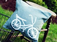 cute pillow.. need to make with new silhoutte machine!