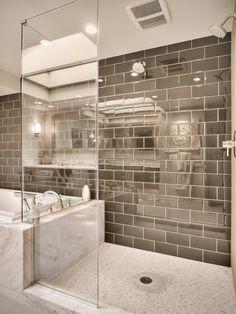 How-To DIY Article | 11 Simple DIY Ways To Make Your Small Bathroom Look BIGGER | Image Source: Dawna Jones - Interior Designer: Wightman Construction| CLICK TO ENJOY... http://carlaaston.com/designed/11-easy-ways-to-make-a-small-bathroom-look-bigger (KWs: mirror, cabinet, closet, lighting)