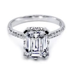 Tacori Emerald Cut Diamond Engagement Ring