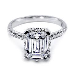 Tacori Emerald Cut Diamond Engagement Ring