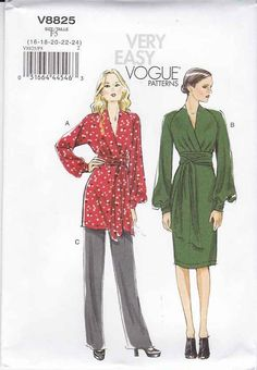 Vogue Sewing Pattern V8825