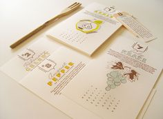 42 Pressed Dirty Dozen Calendar | Printed and designed by 42 Pressed