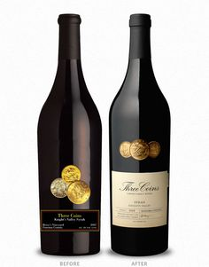 Three Coins Lawer Family Wines Cf Napa Brand Design