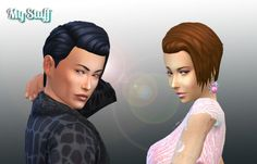 Brushed Hairstyle Conversion at My Stuff • Sims 4 Updates