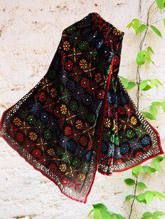 Buy Now #Multicolor #phulkari #handembroidered #Black #dupatta #punjabi #threadwork