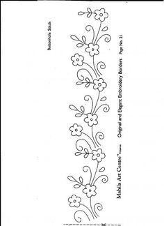 219 Best Border Embroidery Designs Images Embroidery Stitches