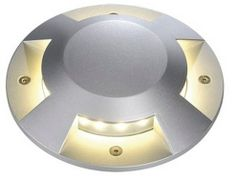 SLV Lighting Exterior Ground Fixtures - Big LED Plot Round Cover Options