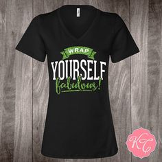 Wrap Yourself fabulous inspired by It Works   •4.2 oz., 100% combed ringspun cotton, 30 singles •True missy fit Please see sizing specs below.