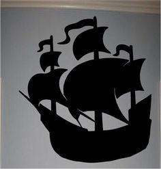 Pirate Ship Kids Room Nursery Wall Decal Decor