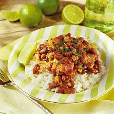 The reader enjoys this dish spicy and tangy, but feel free to adjust the curry paste and lime juice to your liking. Spicy beans with...