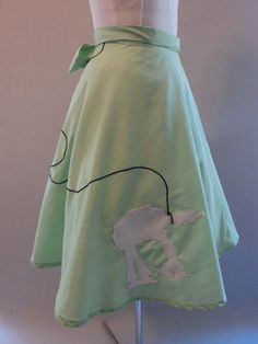 Wasn't sure which board to pin this on...Poodle skirt with an AT-AT!! Love it!