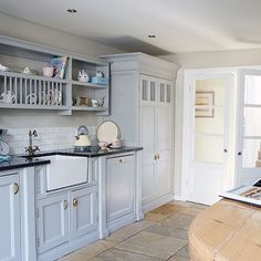 Country kitchen with painted units and Belfast sink | Kitchen decorating | housetohome.co.uk