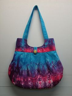 Free Fabric Handbag Patterns | ... of the hand dyed fabric i recently made to make a new purse this purse