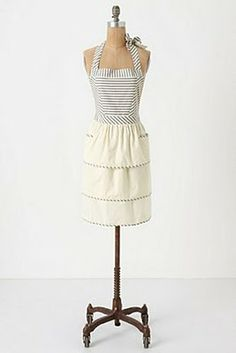 Anthropologie apron - cute, would be easy to make