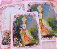 Marie la Belle Dame Easter Confiseries le Lapin Card or Invitations Set