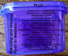 21-day Fix Blue Container - Fruit