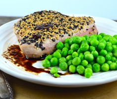 Sesame Crusted Tuna Steaks With Balsamic Sauce