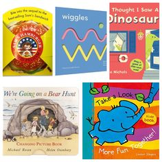 ‪Our roundup of novelty books for little ones includes I Thought I Saw a Dinosaur!, TouchThinkLearn: Wiggles, Take a Look: More Fun Together!, We're Going on a Bear Hunt: Changing Picture Book + Sam's Hamburger. #noveltybook #boardbooks #lifttheflapbook #interactivebook #humor #kidlit #preschoolers /#toddlers https://wp.me/p3X25n-7G2‬