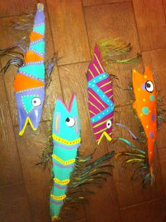 how to paint a palm frond fish art - Avast Image Search Results Palm Tree Crafts, Palm Tree Art, Palm Trees, Palm Frond Art, Palm Fronds, Fish Crafts, Beach Crafts, Hawaiian Decor, Cool Paintings