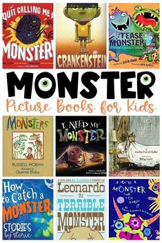 Monsters don't have to be scary! Here are some of our favorite monster books for kids. Many of these monsters are silly, lovable, and sweet! Halloween Activities, Autumn Activities, Science Activities, Classroom Activities, Halloween Fun, Classroom Ideas, Big Green Monster, Monster Pictures