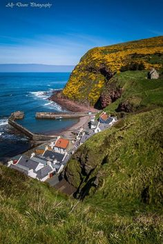 Stunning view of Pennan Village, Aberdeenshire, Scotland