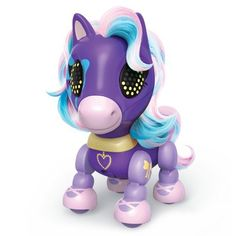 Zoomer Zupps Pretty Ponies, - Lilac, Series 1 - Interactive Pony with Lights, Sounds and Sensors