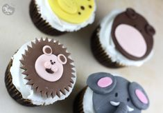 cupcakes animaux de la jungle