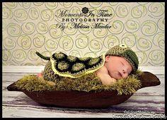 Crochet turtle baby