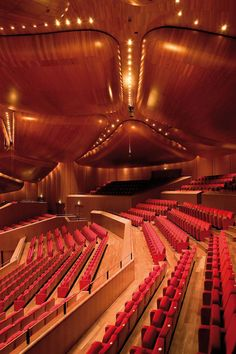 Renzo Piano Building Workshop - Projects - By Type - Parco della Musica Auditorium Theatre Architecture, Beautiful Architecture, Modern Architecture, Renzo Piano, Exterior Design, Interior And Exterior, Festival Hall, Wood Ceilings, Concert Hall