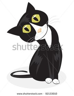 Tuxedo cat is not a breed of cats, named as tuxedo cat because of the black and white coat pattern fur that resembles tux. Mike And Ike, Black And White Tuxedo, Cat Accessories, Cat Facts, White Cats, Cat Breeds, Vector Art, Disney Characters, Fictional Characters