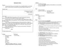 Writing An Informal Letter Worksheet Free Esl Printable