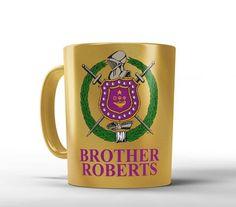 ΩΨΦ 11 oz Metallic Coffee Mug - Omega Psi Phi Personalized Mug - Designs by Dee's Hands