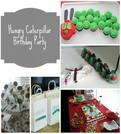 Look at this cute Very Hungry Caterpillar birthday theme! I love how you can customize so many different aspects of the party. There are a variety of kids craft