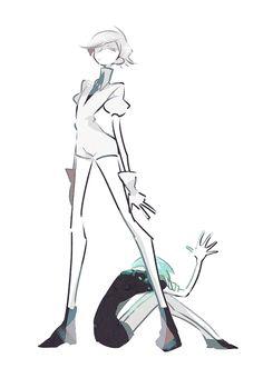 Houseki no kuni Character Inspiration, Character Art, Character Design, Drawing Reference Poses, Art Reference, Illustrations, Illustration Art, Vaporwave Art, Anime Nerd