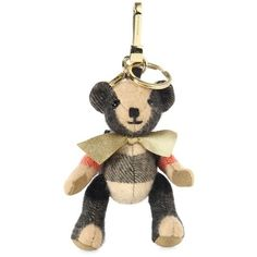 Burberry Goldtone Koala Bear Key Ring (805 BRL) ❤ liked on Polyvore featuring accessories, camel, keychains, ring key chain, burberry, key chain rings, burberry key chain and burberry key ring
