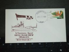USCGC FRANK DREW WLM-557 Naval Cover 1999 COMMISSIONED FDC Cachet MARINETTE, WI