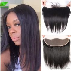 8a Top Grade Brazilian Straight Lace Frontal Closure Bleached Knots 13*4/ 13*2… Free Hair, Lace Frontal, Lace Closure, Knots, Wigs, Long Hair Styles, Top, Beauty, Long Hairstyle