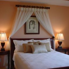 using curtains as headboard - Google Search