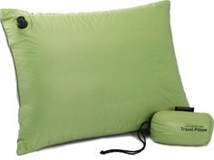 Ultralight backpacking pillow in Light Blue. Even camping needs its luxuries