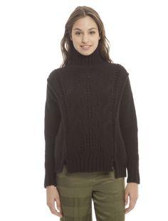 Diffusione Tessile - Pullover con spacchi sul fondo, NERO - € 65,00 (prezzo…