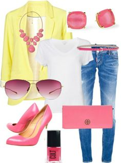 Pink accessories would go with all my main colors (burgundy, yellow, or navy), as well as my neutrals (gray or cream)