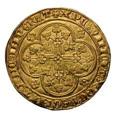 Flandern. Münzstätte Gent. Ludwig II. von Maële ( 1346-1384). Ecu d`or. Ø 2,938 cm 4,49 g. Gold.