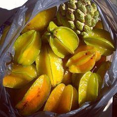 Jamaican fruit... Star fruit, Sweet Sop