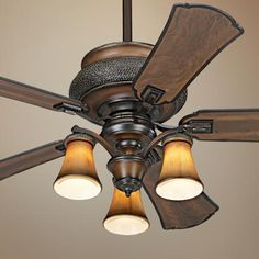 "52"" Minka Aire Dark Craftsman Finish Ceiling Fan - 11747 at lamps plus"