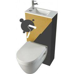 Pack WC suspendu avec lave-mains intégré