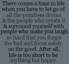 Amen, just letted go some people and ever since then I felt well relieved