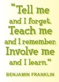 As a mom who has homeschooled for many years, I've found this to be totally true. Hands on learning is truly LEARNING!