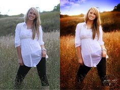Photoshop before and after. Clean edit.